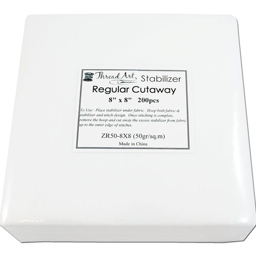 Regular Cutaway Stabilizer - 8x8 200 Precut Sheets - Threadart.com