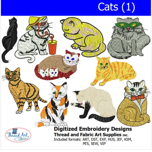 Machine Embroidery Designs - Cats(1) - Threadart.com