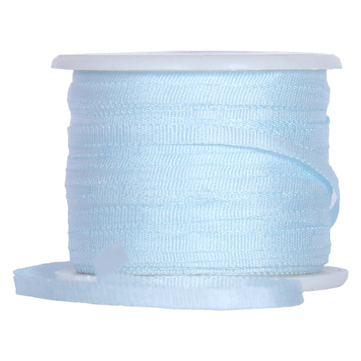Silk Ribbon 2mm Pale Blue x 10 Meters No. 600 - Threadart.com