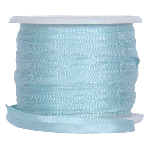 Silk Ribbon 2mm Lt Teal x 10 Meters No. 607 - Threadart.com