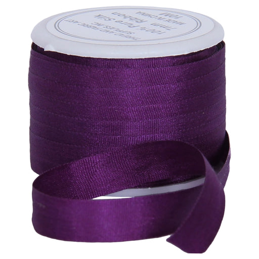 Silk Ribbon 7mm Purple Passion x 10 Meters No. 601 - Threadart.com