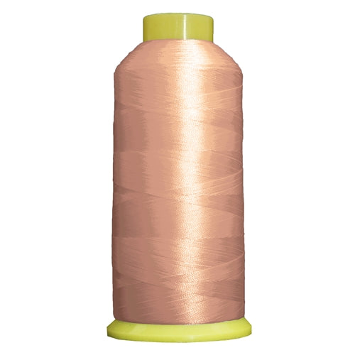 Large Polyester Embroidery Thread No. 107 - Lt Coral- 5000 M - Threadart.com