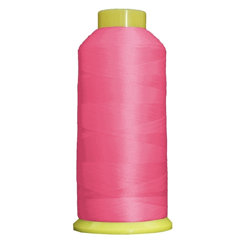 Large Polyester Embroidery Thread No. 136 - Bright Pink- 5000 M - Threadart.com