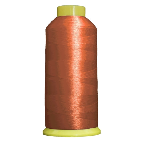 Large Polyester Embroidery Thread No. 165 - Rust- 5000 M - Threadart.com