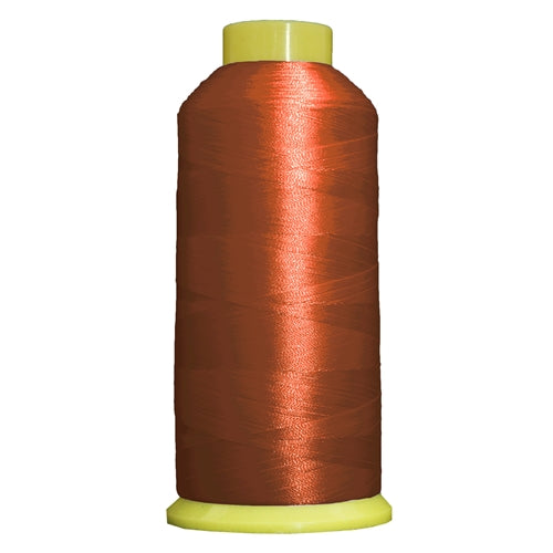 Large Polyester Embroidery Thread No. 290 - Dk Rust-5000 M - Threadart.com