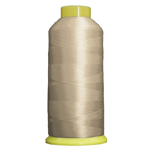 Large Polyester Embroidery Thread No. 411 - Lt Khaki Grey -5000 M - Threadart.com