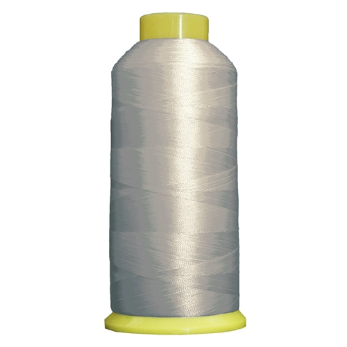 Large Polyester Embroidery Thread No. 426 - Silver-5000 M - Threadart.com