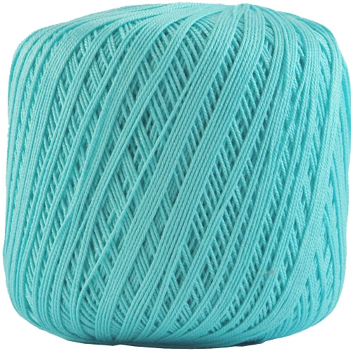 Cotton Crochet Thread - Size 10 - Aqua - 175 Yds - Threadart.com