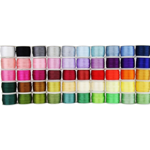 4mm Silk Ribbon Set - 50 Spool Collection -10 Meters (11 Yds) Per Spool - Threadart.com