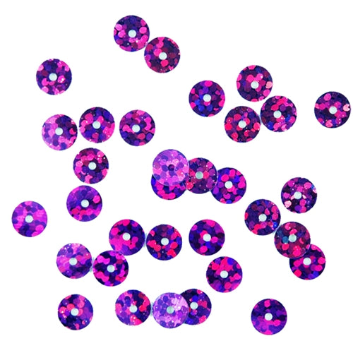HotFix Loose Sequins - 6MM Purple Hologram - Threadart.com