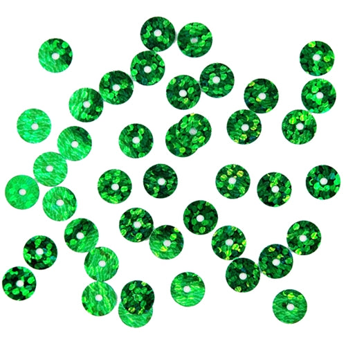 HotFix Loose Sequins - 6MM Green Hologram - Threadart.com