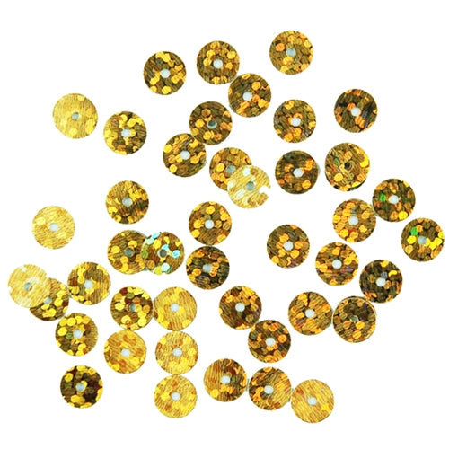 HotFix Loose Sequins - 6MM Gold Hologram - Threadart.com