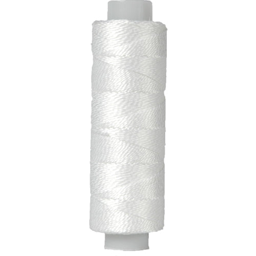 Perle (Pearl) Cotton Thread   - Size 8 - White - 75 Yard Spools - Threadart.com