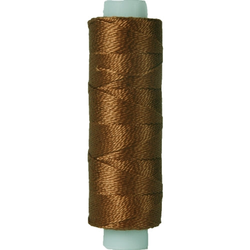 Perle (Pearl) Cotton Thread  - Size 8 - Med Brown - 75 Yard Spools - Threadart.com