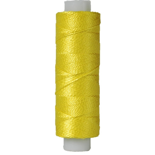 Perle (Pearl) Cotton Thread  - Size 8 - Lemon - 75 Yard Spools - Threadart.com
