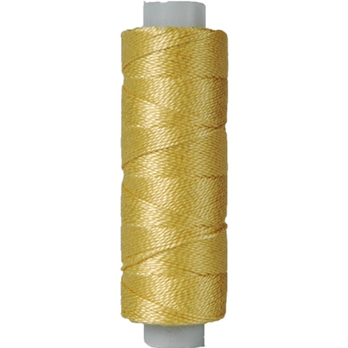 Perle (Pearl) Cotton Thread  - Size 8 - Lt. Old Gold - 75 Yard Spools - Threadart.com