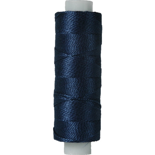 Perle (Pearl) Cotton Thread  - Size 8 - Navy Blue - 75 Yard Spools - Threadart.com