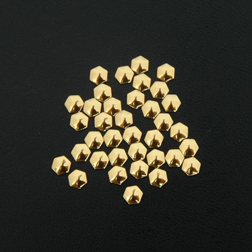 Specialty Nailhead - Gold Hexagon 4x4mm - 4 Gross - Threadart.com