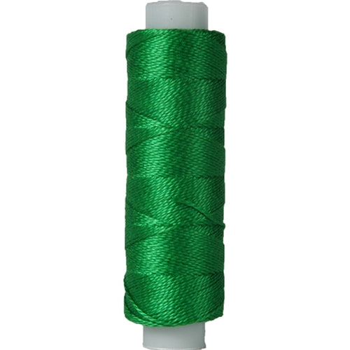 Perle (Pearl) Cotton Thread  - Size 8 - Green - 75 Yard Spools - Threadart.com