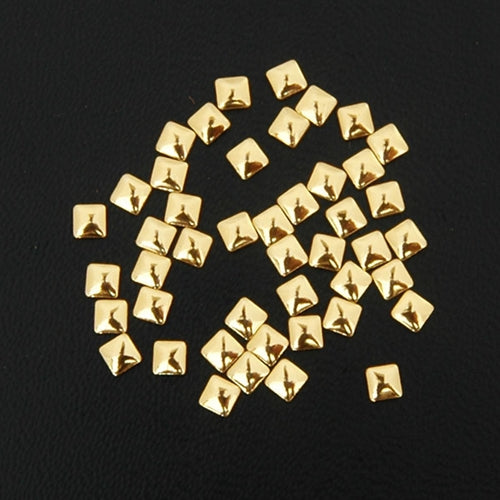 Specialty Nailhead - Gold Square 3x3mm - 5 Gross - Threadart.com