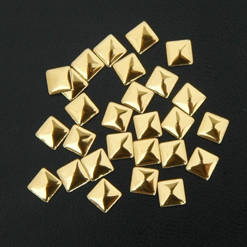 Hot Fix Metallic Nailhead - Gold Square 5x5mm - 2 Gross - Threadart.com