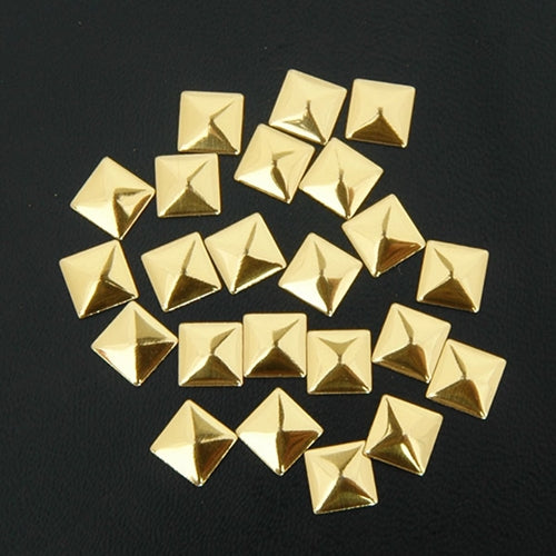 Specialty Nailhead - Gold Square 7x7mm - 1 Gross - Threadart.com