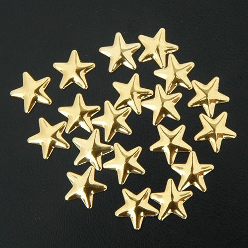 Specialty Nailhead - Gold Star 10x10mm - 1 Gross - Threadart.com