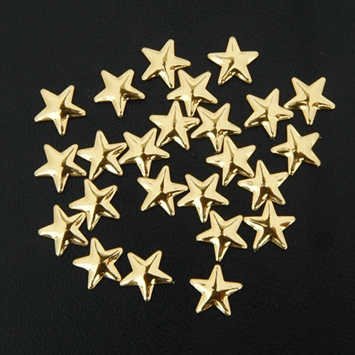 Specialty Nailhead - Gold Star 8x8mm - 2 Gross - Threadart.com