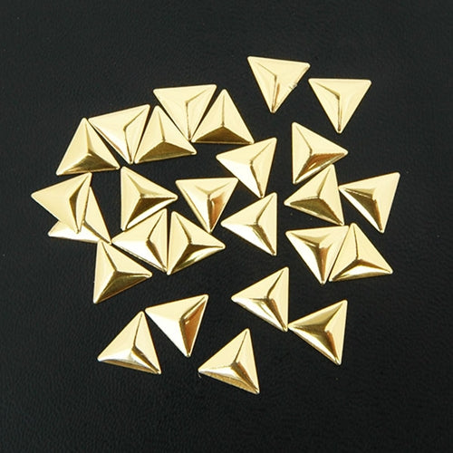 Specialty Nailhead - Gold Triangle 10x10mm - 1 Gross - Threadart.com