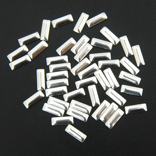 Specialty Nailhead - Silver Rectangle 2.5x7mm - 5 Gross - Threadart.com