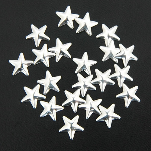 Specialty Nailhead - Silver Star 10x10mm - 1 Gross - Threadart.com