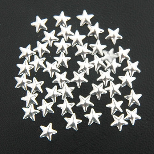 Specialty Nailhead - Silver Star 5x5mm - Threadart.com
