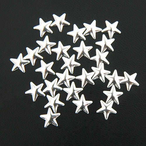 Specialty Nailhead - Silver Star 8x8mm - 2 Gross - Threadart.com