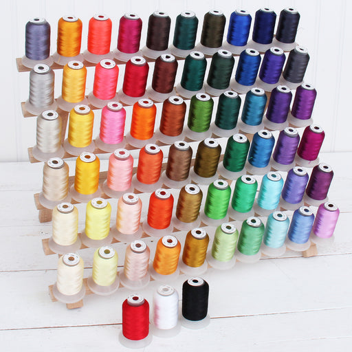 63 Cones Brother Colors 500 Meter Polyester Machine Embroidery Thread - Threadart.com