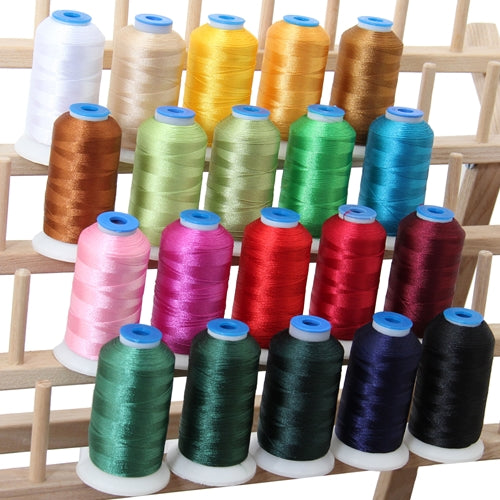 20 Colors of Polyester Embroidery Thread Set - Holiday Colors - Threadart.com