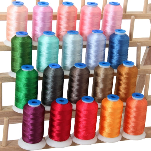 20 Colors of Polyester Embroidery Thread Set - Pastel Colors - Threadart.com