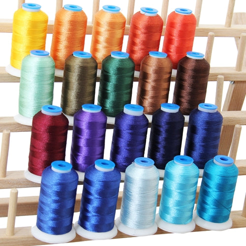 20 Colors of Polyester Embroidery Thread Set - Royal Colors - Threadart.com