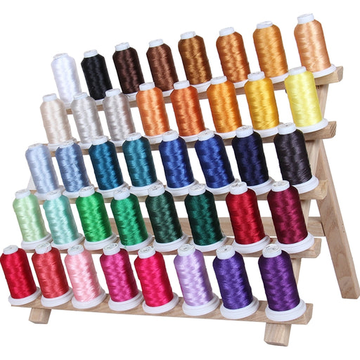 40 Cones of 500 Meters Polyester Machine Embroidery Thread - Set A - Threadart.com