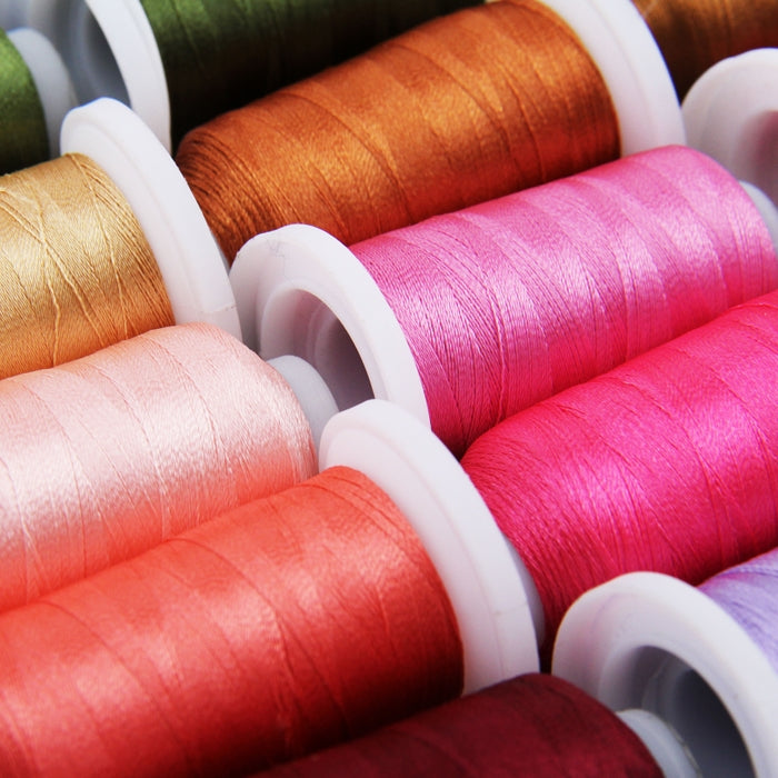 40 Cones of 500 Meters Polyester Machine Embroidery Thread - Brilliant Colors - Threadart.com