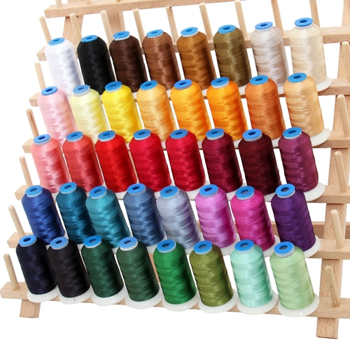 40 Colors of Rayon Thread - Popular Colors Set A - 1000 Meters - Threadart.com