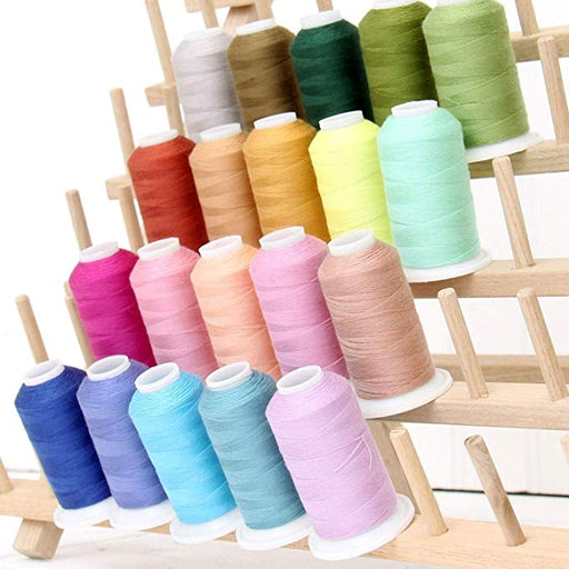 Polyester All-Purpose Sewing Thread 20 Spool Set - Vibrant Collection - Threadart.com