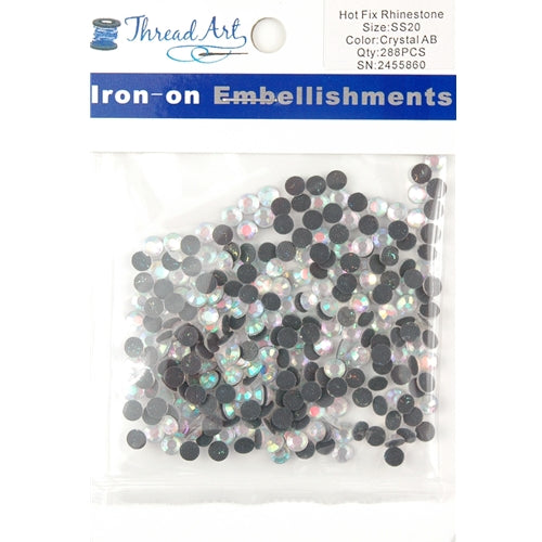 Hot Fix Rhinestones - SS20 - Crystal AB - 288 stones - Threadart.com