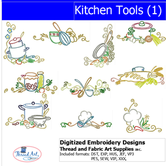 Machine Embroidery Designs - Kitchen Tools(1) - Threadart.com