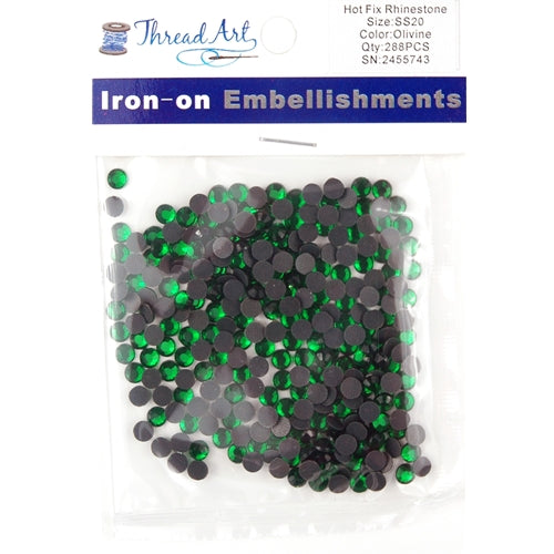 Hot Fix Rhinestones - SS20 - Olivine - 288 stones - Threadart.com