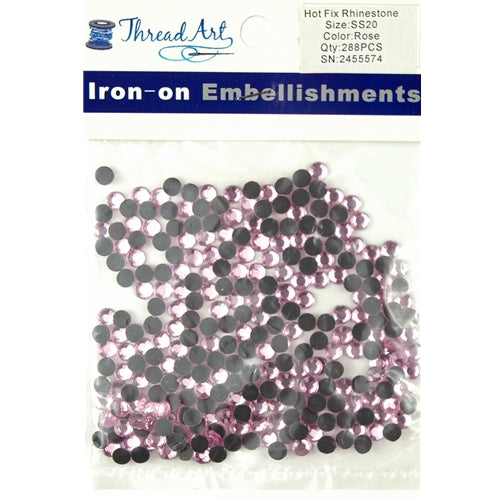 Hot Fix Rhinestones - SS20 - Rose - 288 stones - Threadart.com