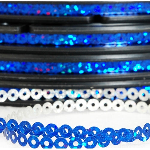Hot Fix Sequin Reel - Blue 4mm - Threadart.com