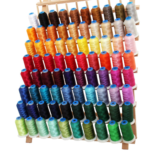 80 Colors of Polyester Embroidery Thread Set - 1000 Meters