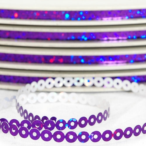 Hot Fix Sequin Reel - Purple 4mm - Threadart.com