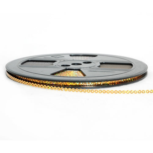 Hot Fix Sequin Reel - Gold 4mm - Threadart.com