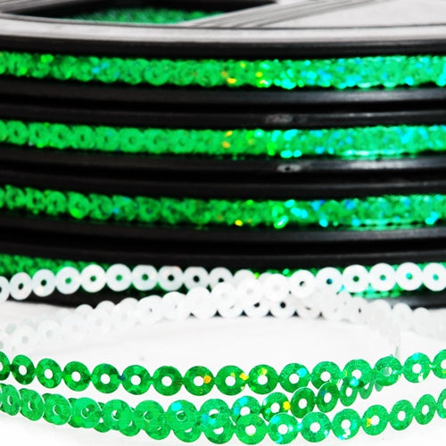 Hot Fix Sequin Reel - Green 4mm - Threadart.com